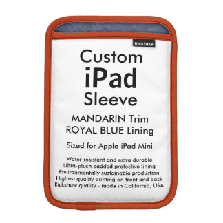 Mini manga del iPad de encargo - (mandarín y azul Fundas De iPad Mini