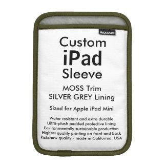 Mini manga del iPad de encargo - (musgo y gris de Funda Para iPad Mini