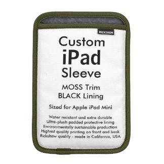 Mini manga del iPad de encargo - (musgo y negro) Funda Para iPad Mini