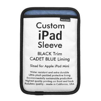 Mini manga del iPad de encargo - (negro y azul del Funda iPad Mini