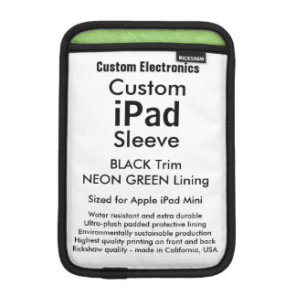 Mini manga del iPad de encargo - negro y verde del Funda iPad Mini