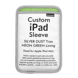 Mini manga del iPad de encargo - (polvo de plata y Funda iPad Mini