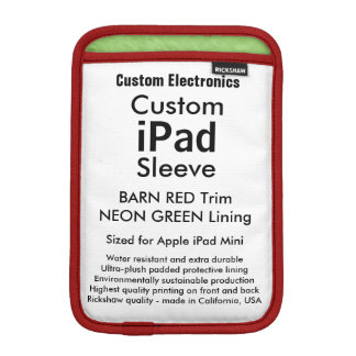 Mini manga del iPad de encargo - roja y verde del Fundas Para iPad Mini