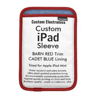 Mini manga del iPad de encargo - rojo y azul del Funda iPad Mini