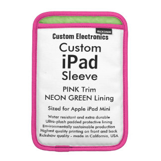 Mini manga del iPad de encargo - rosado y verde Fundas iPad Mini