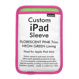 Mini manga del iPad de encargo - rosado y verde Fundas Para iPad Mini