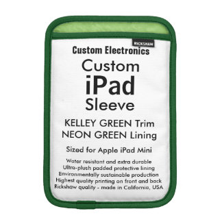 Mini manga del iPad de encargo - (verde de Kelley Funda iPad Mini