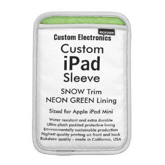 Mini manga del iPad de encargo - verde de la nieve Funda Para iPad Mini