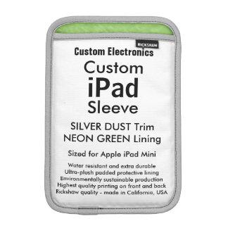 Mini manga del iPad de encargo - verde de plata Fundas De iPad Mini