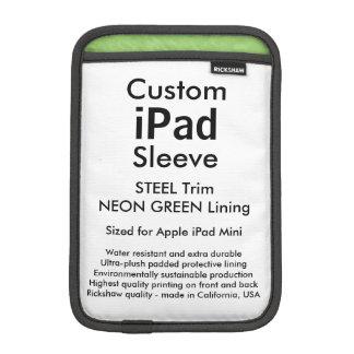Mini manga del iPad de encargo - (verde del acero Fundas iPad Mini