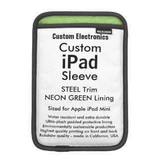 Mini manga del iPad de encargo - verde del acero y Funda De iPad Mini