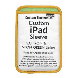 Mini manga del iPad de encargo - verde del azafrán Funda iPad Mini