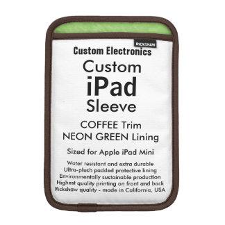 Mini manga del iPad de encargo - verde del café y Funda De iPad Mini