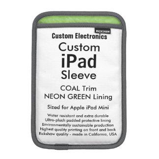 Mini manga del iPad de encargo - verde del carbón Fundas Para iPad Mini