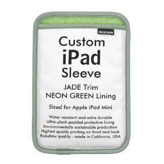 Mini manga del iPad de encargo - (verde del jade y Fundas Para iPad Mini