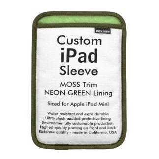 Mini manga del iPad de encargo - (verde del musgo Fundas Para iPad Mini