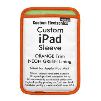 Mini manga del iPad de encargo - verde del naranja Funda iPad Mini
