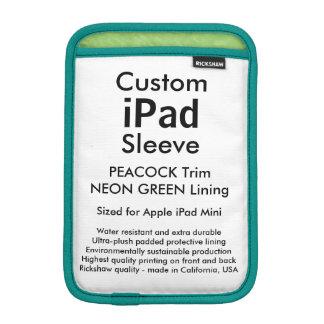 Mini manga del iPad de encargo - (verde del pavo Fundas De iPad Mini
