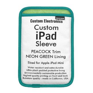 Mini manga del iPad de encargo - verde del pavo Funda iPad Mini