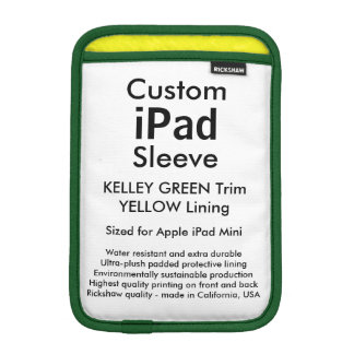 Mini manga del iPad de encargo - (verde y amarillo Funda iPad Mini