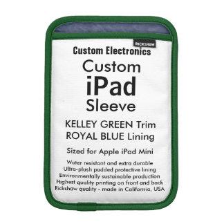 Mini manga del iPad de encargo - (verde y azul de Fundas iPad Mini
