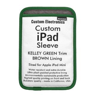 Mini manga del iPad de encargo - (verde y Brown de Funda Para iPad Mini