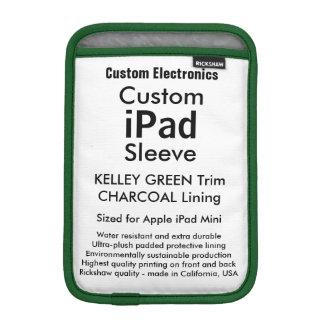 Mini manga del iPad de encargo - verde y carbón de Fundas iPad Mini