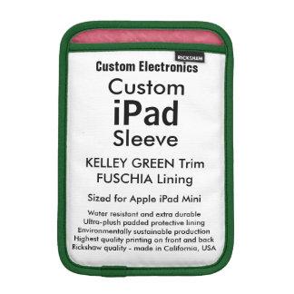 Mini manga del iPad de encargo - (verde y Fuschia Fundas Para iPad Mini