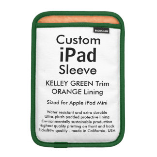Mini manga del iPad de encargo - (verde y naranja Funda Para iPad Mini