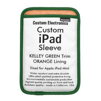 Mini manga del iPad de encargo - (verde y naranja Fundas iPad Mini