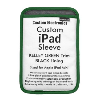 Mini manga del iPad de encargo - (verde y negro de Funda De iPad Mini