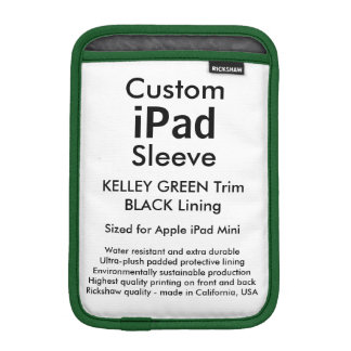 Mini manga del iPad de encargo - (verde y negro de Fundas Para iPad Mini