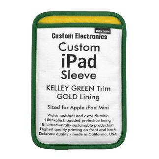 Mini manga del iPad de encargo - (verde y oro de Funda De iPad Mini