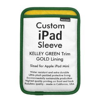 Mini manga del iPad de encargo - (verde y oro de Funda Para iPad Mini