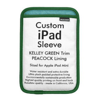 Mini manga del iPad de encargo - (verde y pavo Funda Para iPad Mini