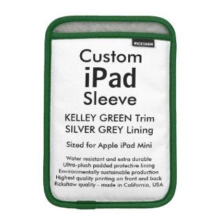 Mini manga del iPad de encargo - (verde y plata de Fundas De iPad Mini