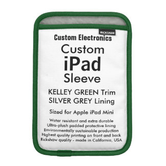 Mini manga del iPad de encargo - (verde y plata de Funda iPad Mini