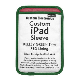 Mini manga del iPad de encargo - (verde y rojo de Funda Para iPad Mini