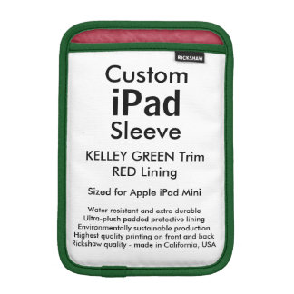 Mini manga del iPad de encargo - (verde y rojo de Fundas iPad Mini