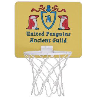 Mini meta del baloncesto de los pingüinos mini aro de baloncesto