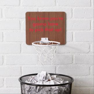 mini meta del baloncesto del humor mini tablero de baloncesto