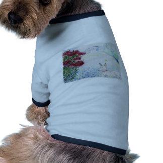 mini-pincher delante del flaxfield camisetas de mascota