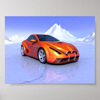 Mini poster del coche fresco