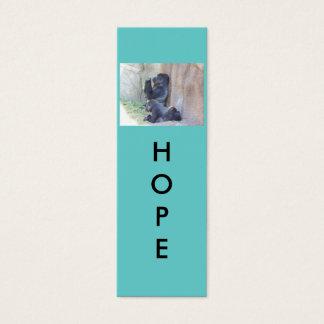 Mini señales de la esperanza tarjeta de visita mini