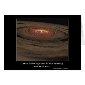 Mini Sistema Solar en la fabricación - el concepto Tarjeta De Felicitación