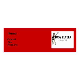mini tarjeta del bassplayer tarjetas de visita mini