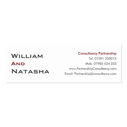 Mini tarjeta del perfil - sociedad de la consulta plantilla de tarjeta de negocio