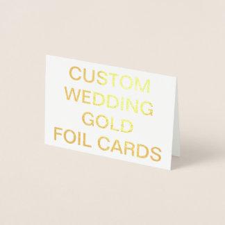 Mini tarjeta personalizada del efecto metalizado