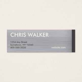 Mini tarjetas cepilladas de la textura titanium de