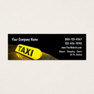 Mini tarjetas de visita del taxi